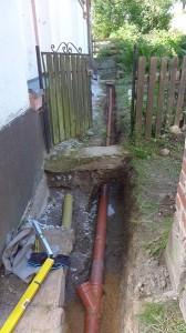 Neue Regenwasserleitung