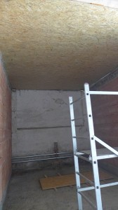 neuer Boden und Decke im zukünftigen Pelletlager
