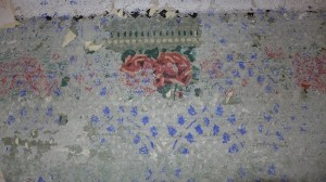 die einzige gut erhaltene Rose
