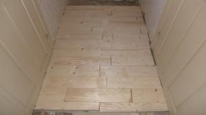 provisorischer Fußbodenbelag
