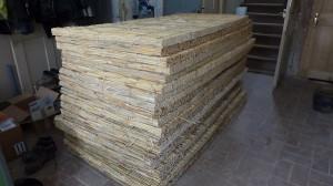 40 qm Schilfrohrplatten